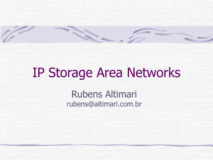 ip storage area networks n.