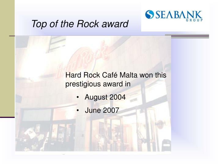 Top of the Rock award