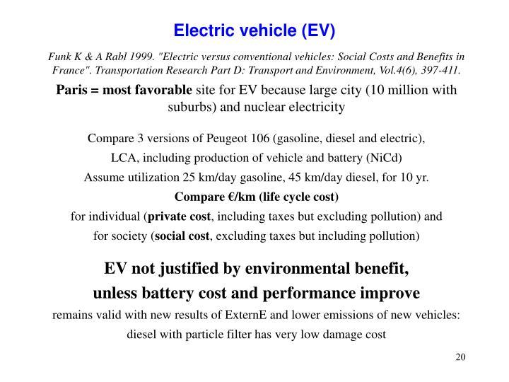 Electric vehicle (EV)