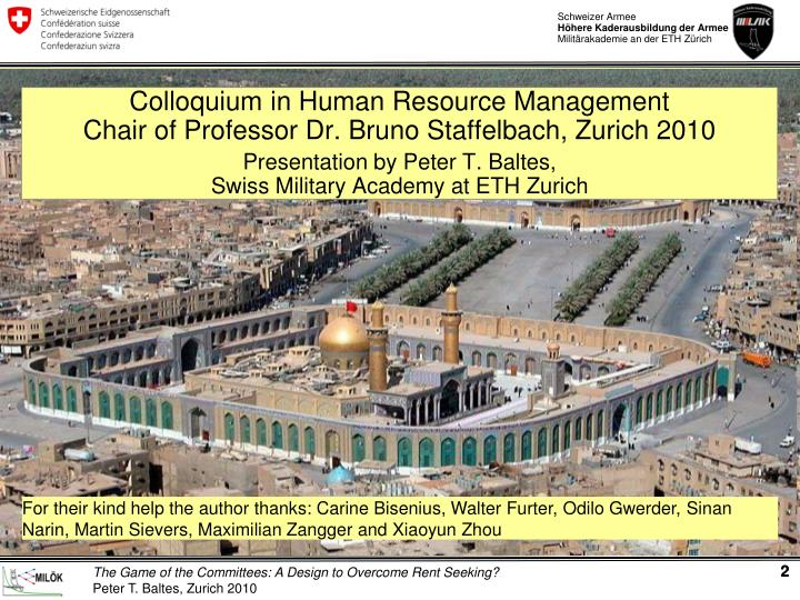 Colloquium in Human Resource Management