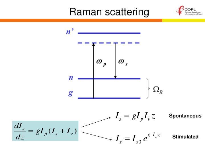 Raman scattering