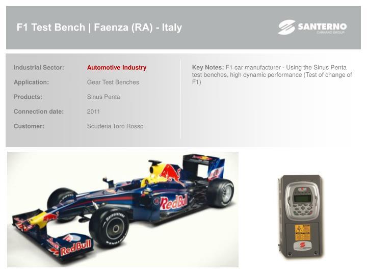 F1 Test Bench | Faenza (RA) - Italy