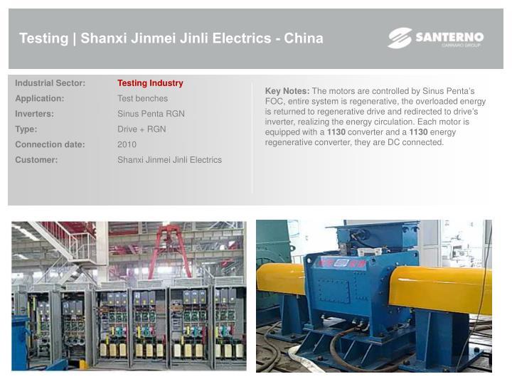 Testing | Shanxi Jinmei Jinli Electrics - China