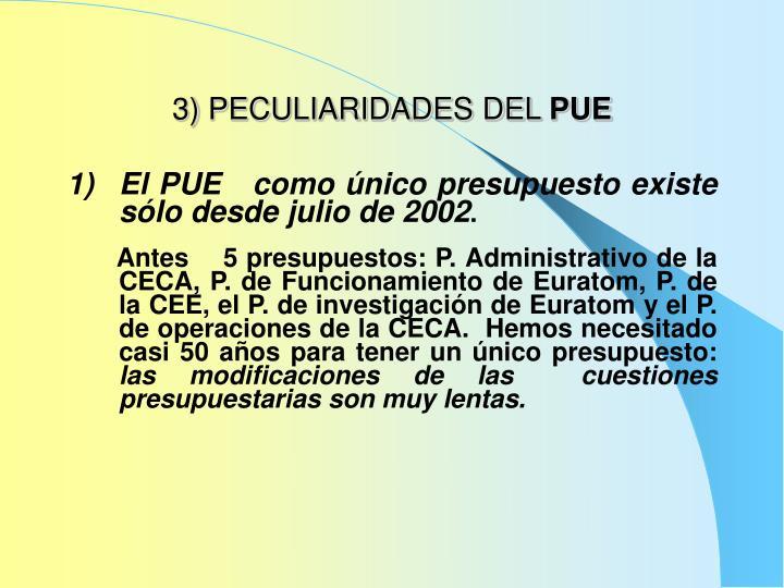 3) PECULIARIDADES DEL
