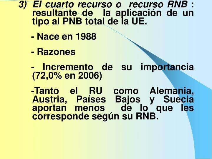 El cuarto recurso o  recurso RNB