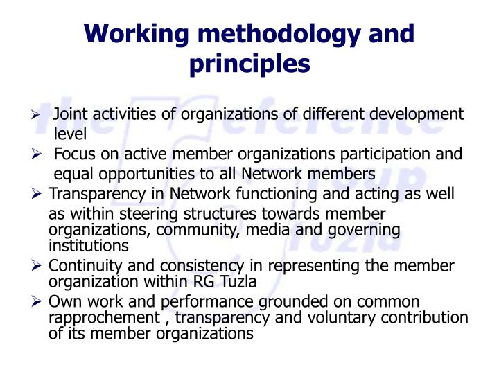 Joint activities of organizations of different development