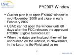 fy2007 window