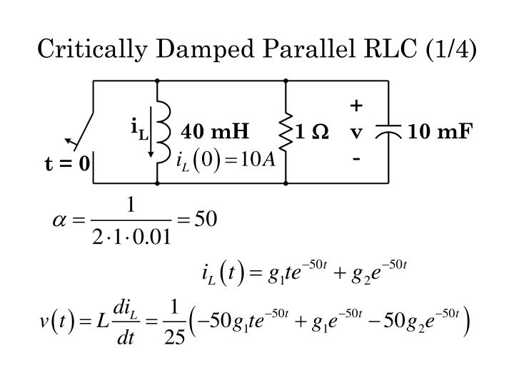 Critically Damped Parallel RLC (1/4)