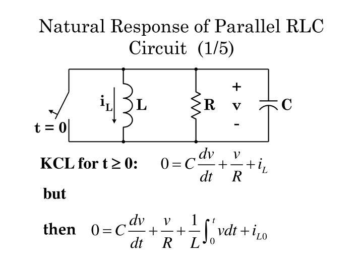 Natural response of parallel rlc circuit 1 5