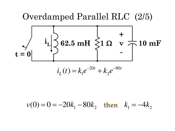 Overdamped Parallel RLC  (2/5)