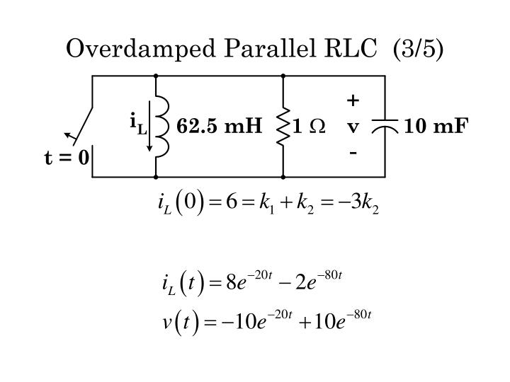 Overdamped Parallel RLC  (3/5)