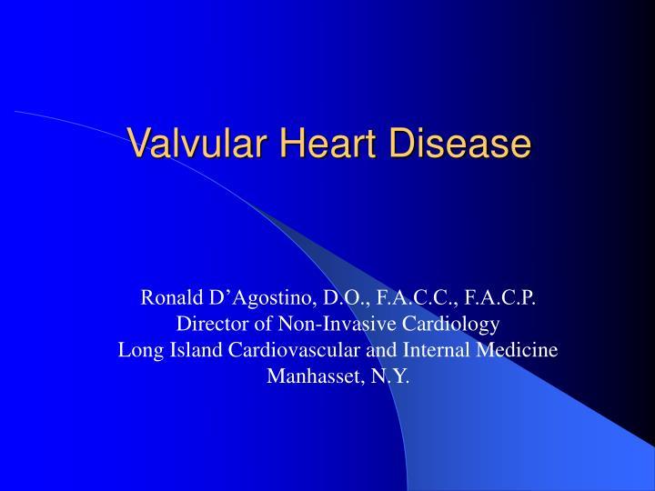 valvular heart disease n.