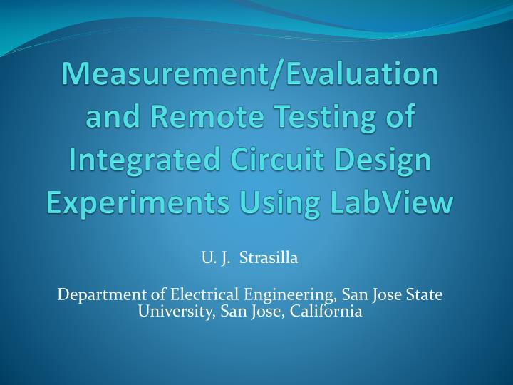 PPT - Measurement/Evaluation and Remote Testing of