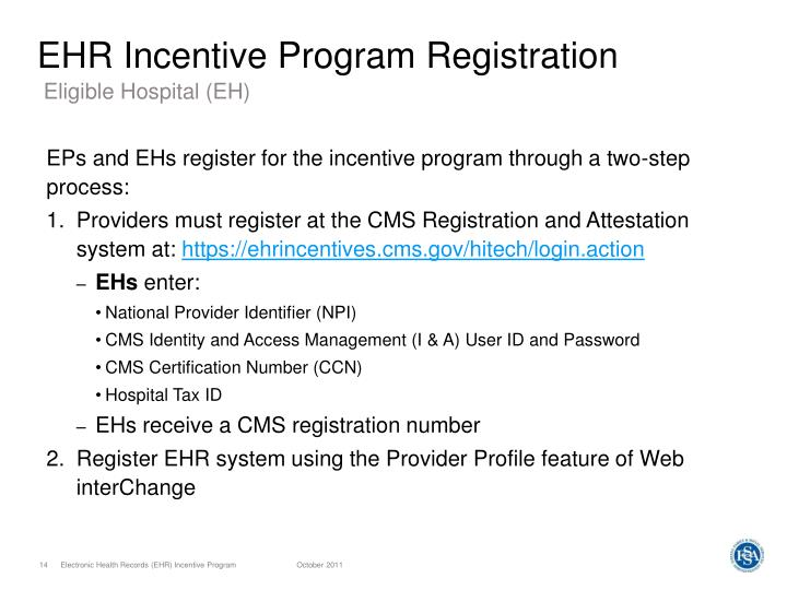 EHR Incentive Program Registration