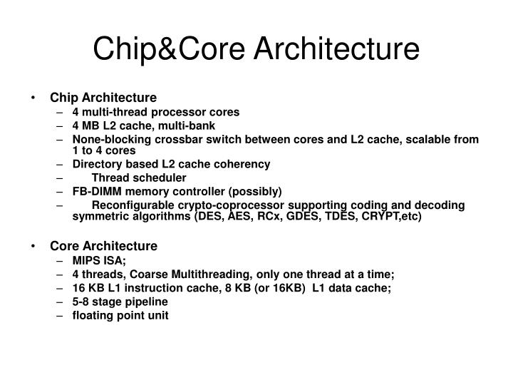 chip core architecture n.