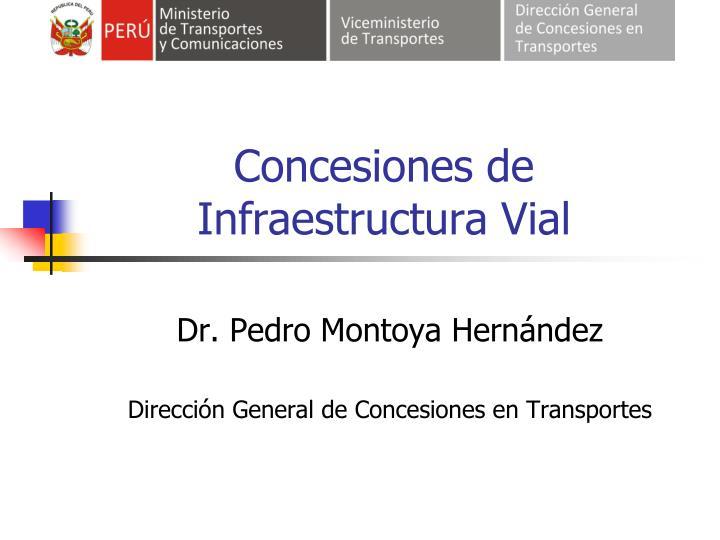 concesiones de infraestructura vial n.