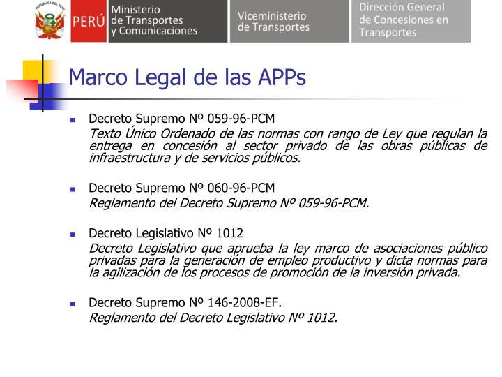 Marco Legal de las APPs