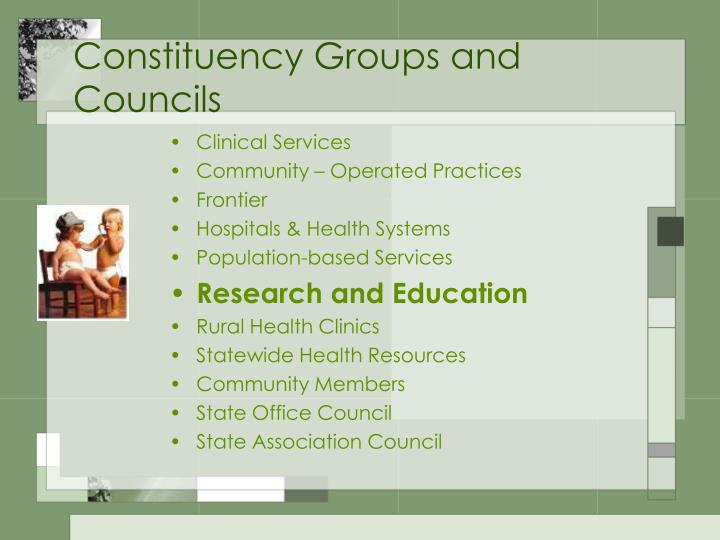 Constituency Groups and Councils