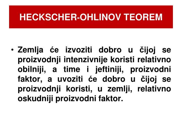 Heckscher ohlinov teorem