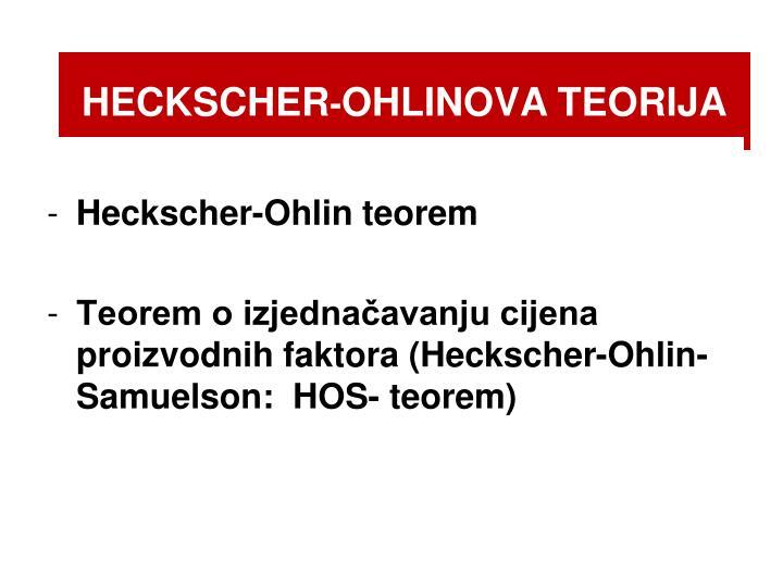Heckscher ohlinova teorija