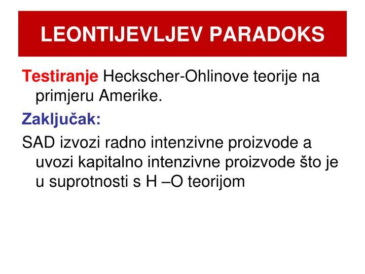 LEONTIJEVLJEV PARADOKS