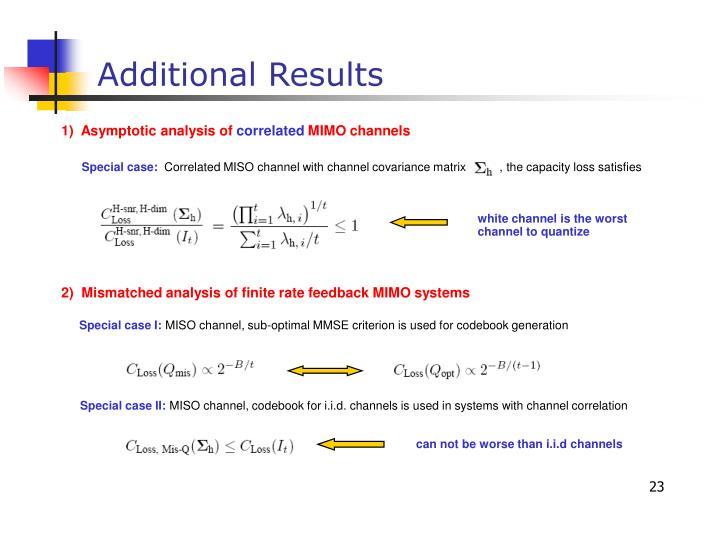 1)  Asymptotic analysis of