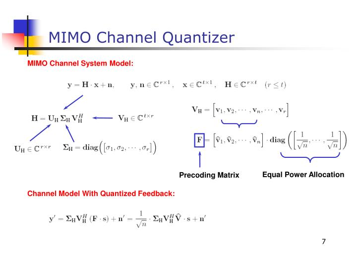 MIMO Channel System Model: