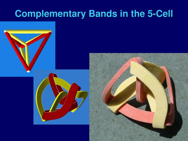 Complementary Bands in the 5-Cell