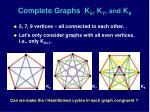 complete graphs k 5 k 7 and k 9