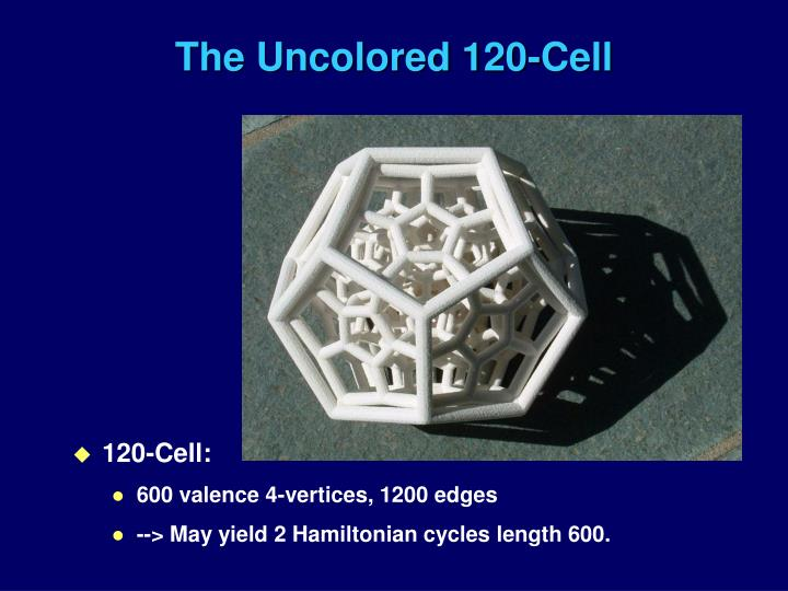 The Uncolored 120-Cell