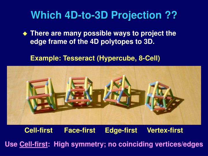 Which 4D-to-3D Projection ??
