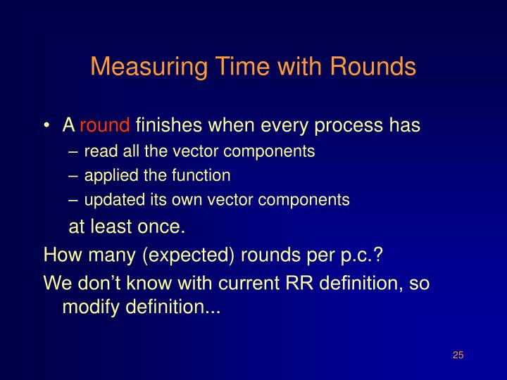 Measuring Time with Rounds