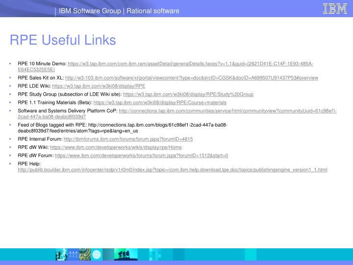 Rpe useful links