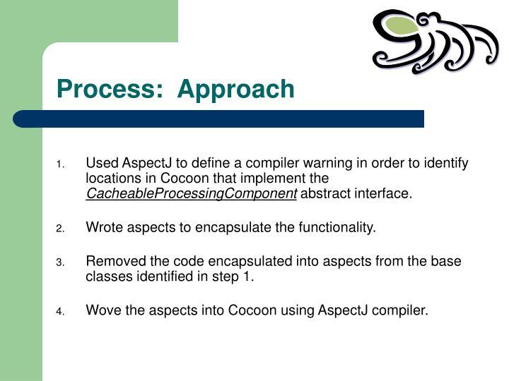 Process:  Approach