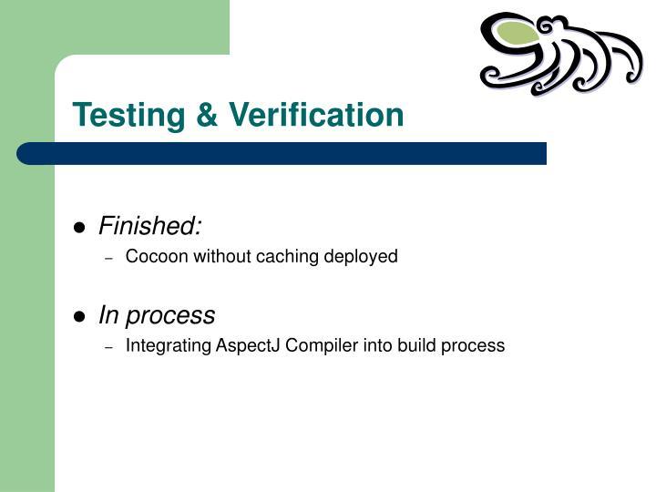 Testing & Verification