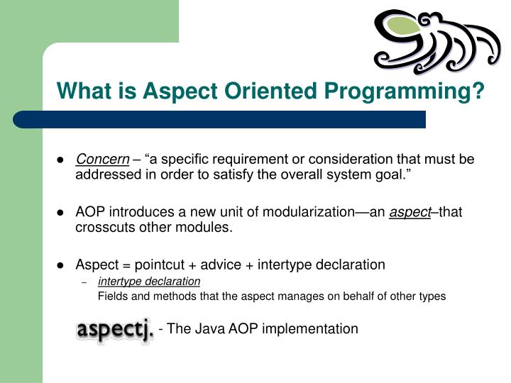What is aspect oriented programming