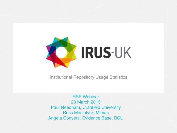 institutional repository usage statistics