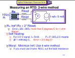 measuring an rtd 2 wire method