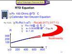 rtd equation