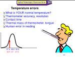 temperature errors