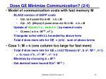 does ge minimize communication 2 4