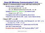 does ge minimize communication 3 4