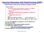 gaussian elimination with partial pivoting gepp