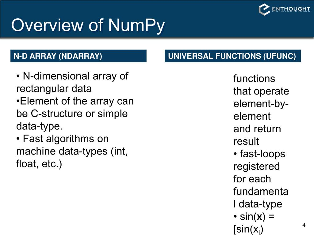 PPT - NumPy (and SciPy) PowerPoint Presentation - ID:3364887