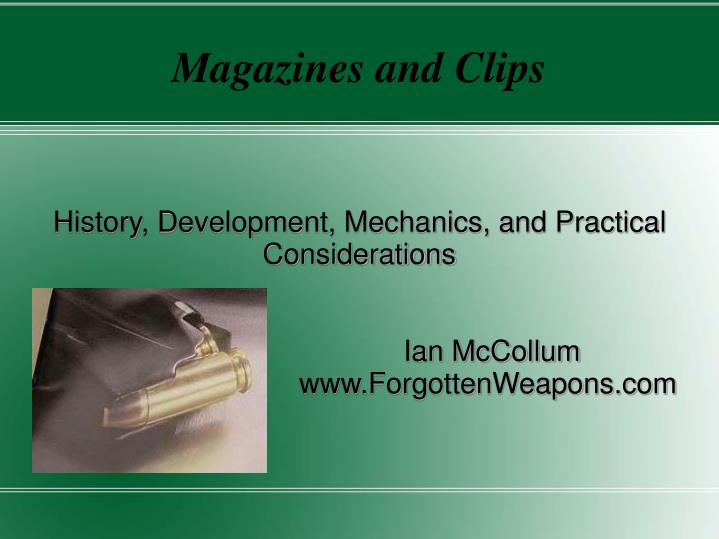 magazines and clips n.