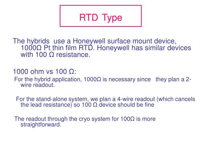 Rtd type