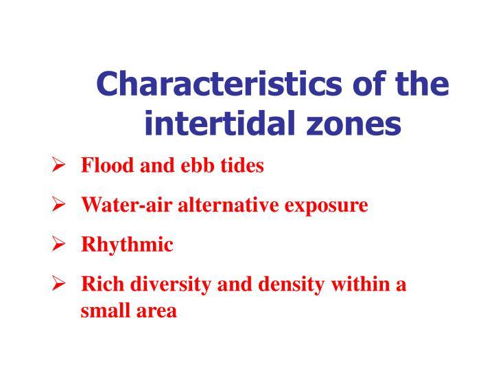 Characteristics of the intertidal zones