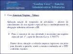 leading cases san es administrativas tribut rias