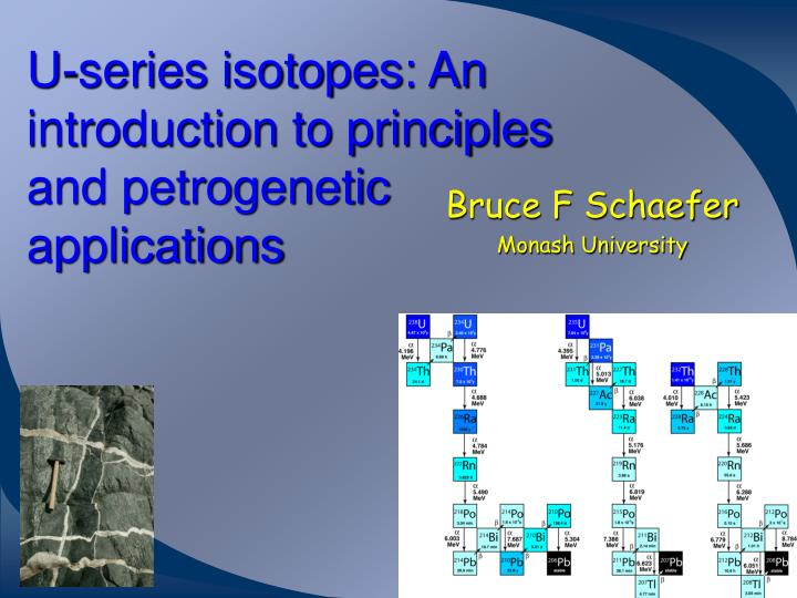 u series isotopes an introduction to principles and petrogenetic applications n.