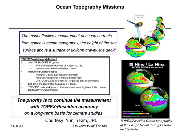 Ocean Topography Missions